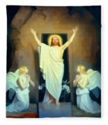 The Resurrection Of Christ By Carl Heinrich Bloch  Fleece Blanket