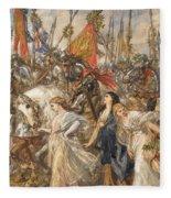 The Return Of The Victors Fleece Blanket