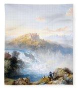 The Rhine Falls At Schaffhausen Fleece Blanket