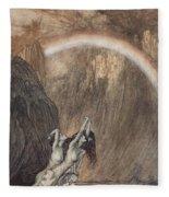 The Rhine S Fair Children Bewailing Their Lost Gold Weep Fleece Blanket