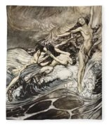 The Rhinemaidens Obtain Possession Of The Ring And Bear It Off In Triumph Fleece Blanket