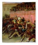 The Riderless Racers At Rome Fleece Blanket