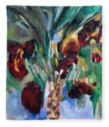 The Righteous Will Flourish Like The Date Palm Tree Fleece Blanket