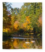The River Flows Fleece Blanket
