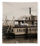 The River Lady Toms River New Jersey Fleece Blanket