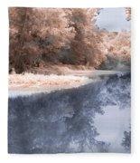 The River - Near Infrared Fleece Blanket