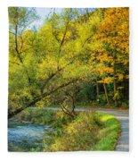 The River Road Curve Fleece Blanket
