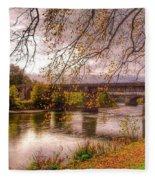 The Riverside At Avenham Park Fleece Blanket