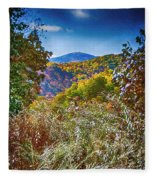 The Road To Cataloochee On A Frosty Fall Morning Fleece Blanket