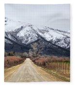 The Road To Soldier Creek Fleece Blanket