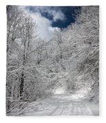 The Road To Winter Wonderland Fleece Blanket