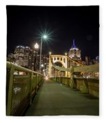 The Roberto Clemente Bridge Fleece Blanket
