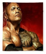 The Rock Dwayne Johnson  Fleece Blanket