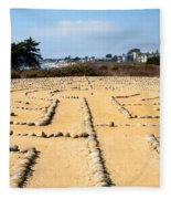 The Rock Maze Santa Barbara Fleece Blanket