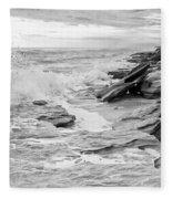 The Rocky Coast Fleece Blanket