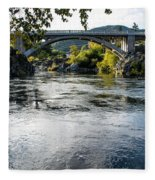 The Rogue River At Gold Hill Bridge Fleece Blanket