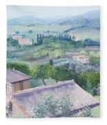 The Rolling Hills Of Tuscany Fleece Blanket