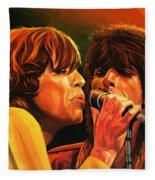 The Rolling Stones Fleece Blanket