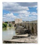 The Roman Bridge Of Cordoba  Fleece Blanket
