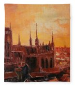 The Roofs Of Gdansk Fleece Blanket