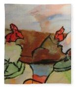 The Roosters Fleece Blanket