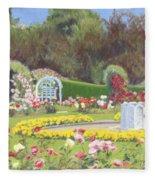The Rose Garden Fleece Blanket