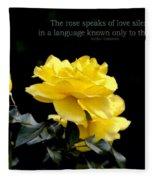 The Rose Speaks Of Love Fleece Blanket
