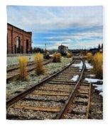 The Roundhouse Evanston Wyoming - 5 Fleece Blanket