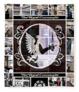 The Royal Connaught Crest Photo Collage Fleece Blanket
