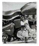 The Royal Enfield Motorbike Fleece Blanket