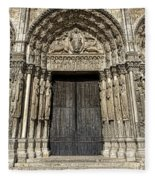 The Royal Portal At Chartres Fleece Blanket