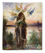 The Sacred Elephant Fleece Blanket