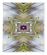 The Sacred Pine Mandala Yantra Fleece Blanket