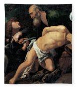 The Sacrifice Of Isaac Fleece Blanket