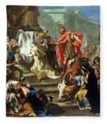 The Sacrifice Of Jephthahs Daughter Fleece Blanket