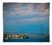 The Sagamore Hotel On Beautiful Lake George Fleece Blanket