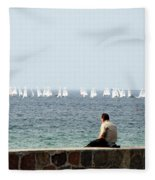 The Sailor With No Boat Fleece Blanket