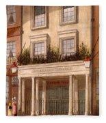 The Sans Pareil Theatre, 1826 Fleece Blanket