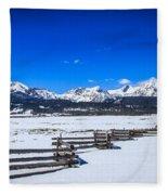 The Sawtooth Mountains Fleece Blanket