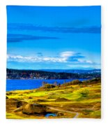 The Scenic Chambers Bay Golf Course Iv - Location Of The 2015 U.s. Open Tournament Fleece Blanket