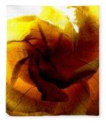The Scorched Rose Fleece Blanket