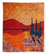 The Scot And The Mermaid Fleece Blanket
