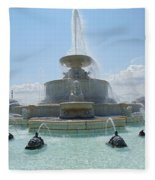 The Scott Fountain On Belle Isle Fleece Blanket