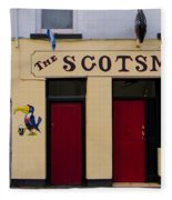 The Scottsmans Bar - Donegal Ireland Fleece Blanket