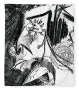 The Scream - Picasso Study Fleece Blanket