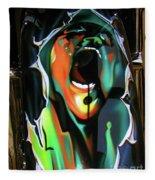 The Scream - Pink Floyd Fleece Blanket