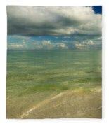 The Sea And The Sky Fleece Blanket