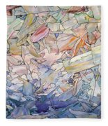 Fragmented Sea Fleece Blanket