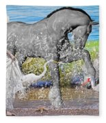 The Sea Horse Fleece Blanket