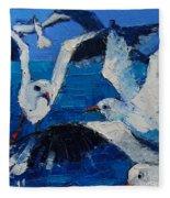 The Seagulls Fleece Blanket
